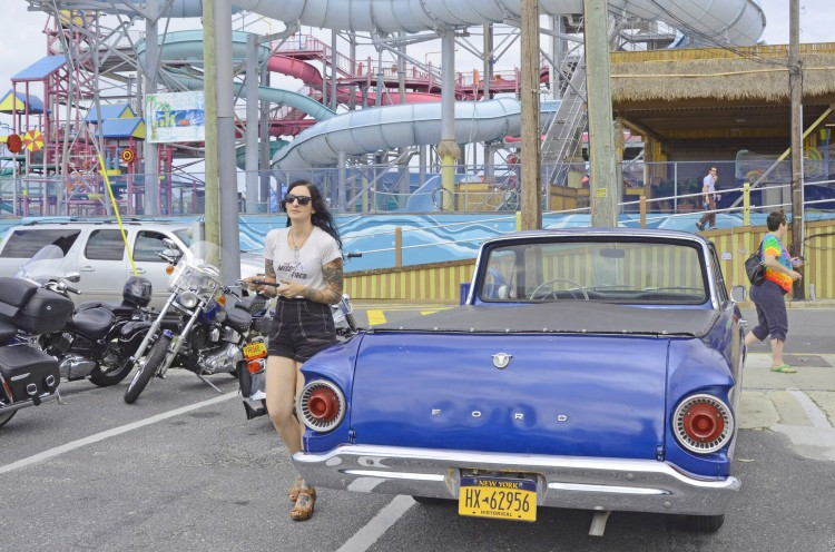 Corinna with her Ranchero in Wildwood. Photo: Amy Maxmen